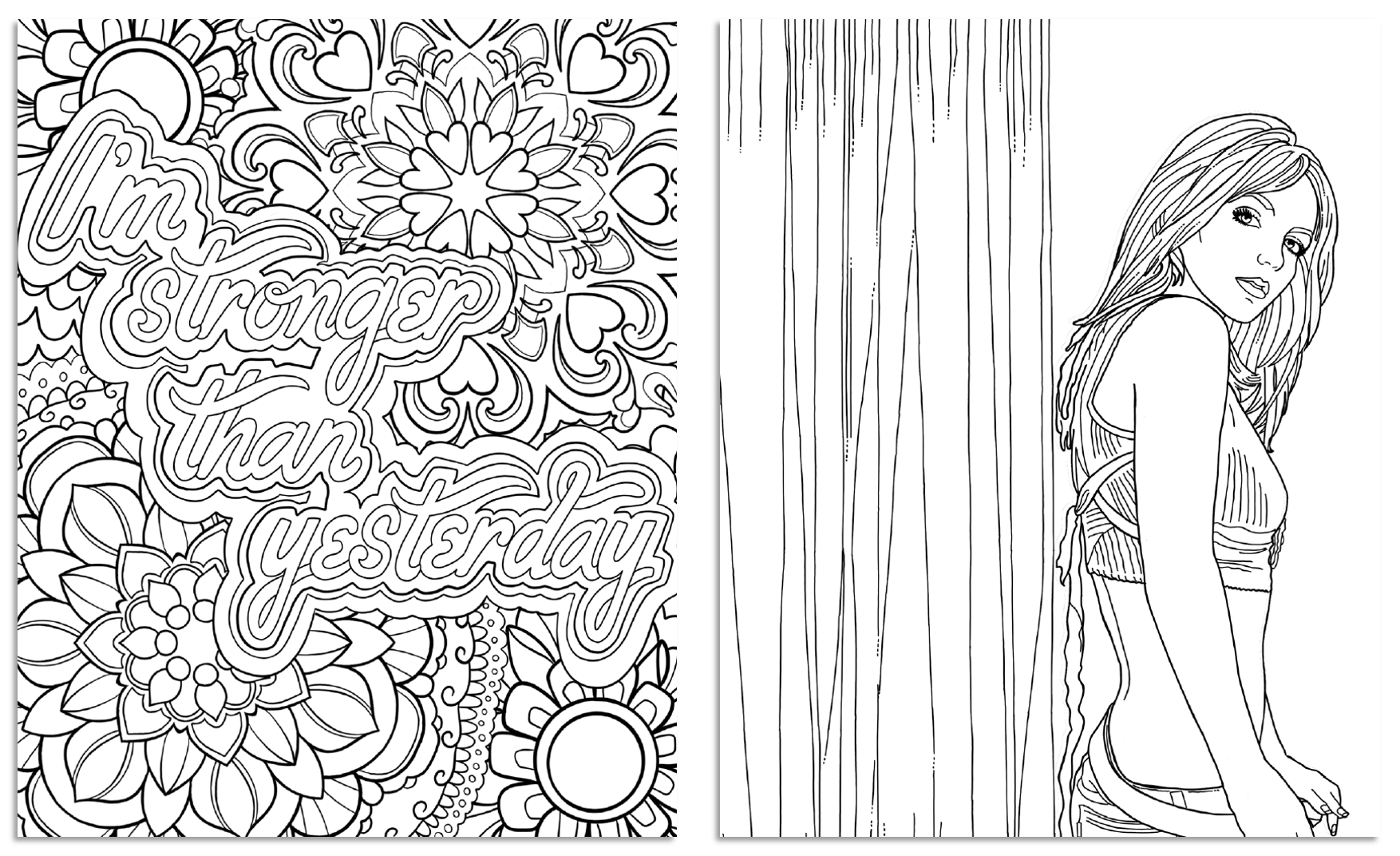 Britney Spears Coloring Book Samples