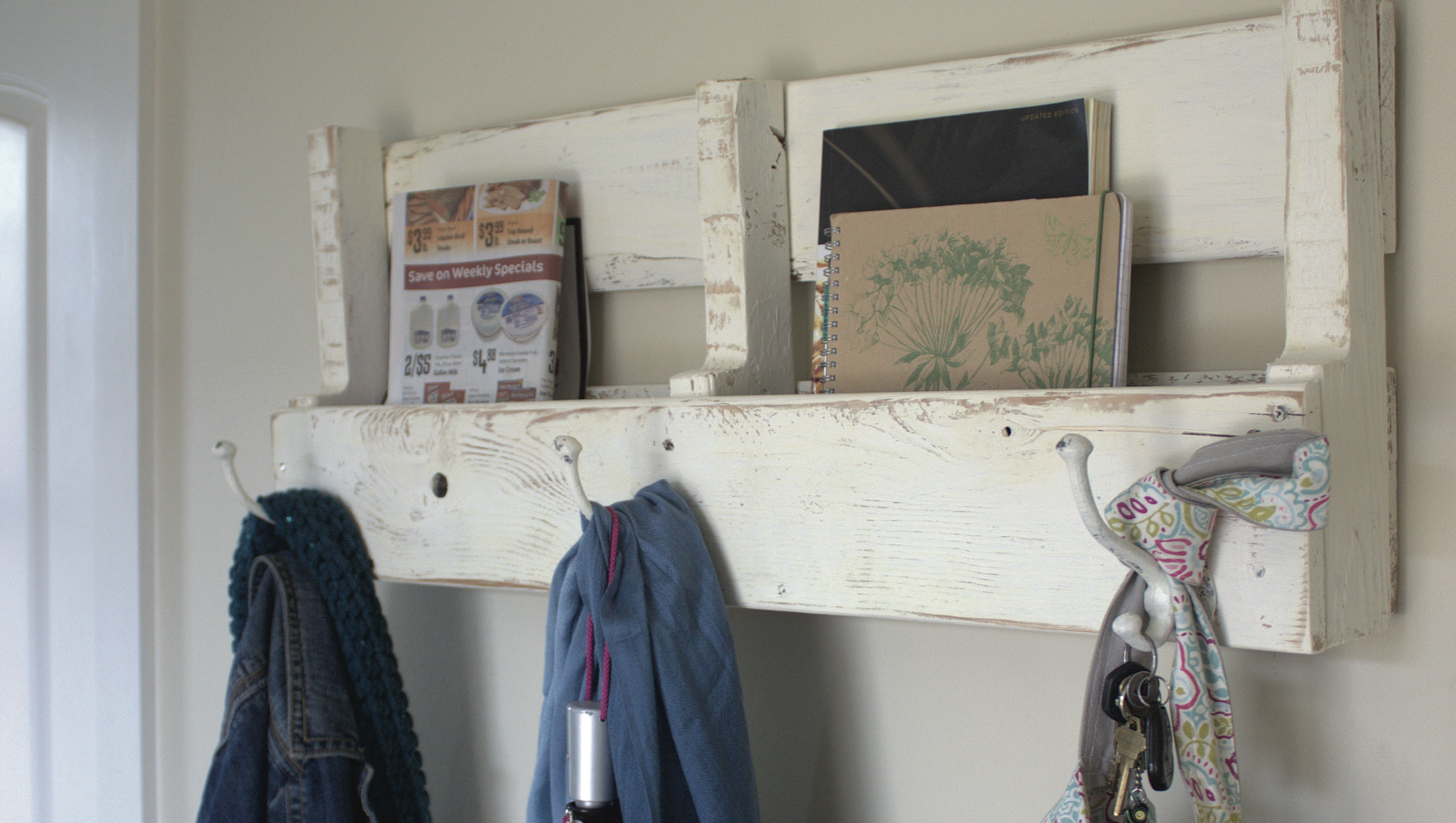 COAT HOOK AND SHELF